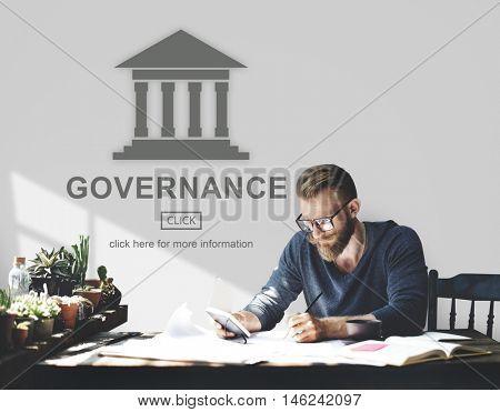 Authority Government Pillar Graphic Concept