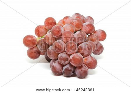 fresh and delicious grapes isolated on white background