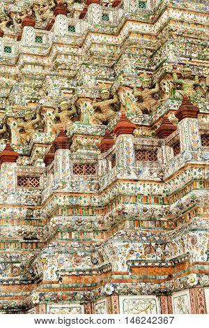 Wat Arun Rajwararam or Temple of the Dawn is a Buddhist temple (wat) in the Bangkok Yai district of Bangkok Thailand