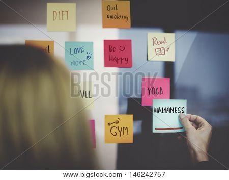 Happiness Positivity Mindset Thinking Wellness Concept
