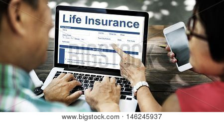Life Insurance Policy Terms of Use Concept