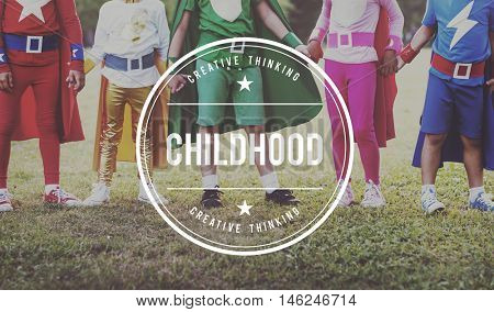 Childhood Childlike Child Children Kids Offspring Concept