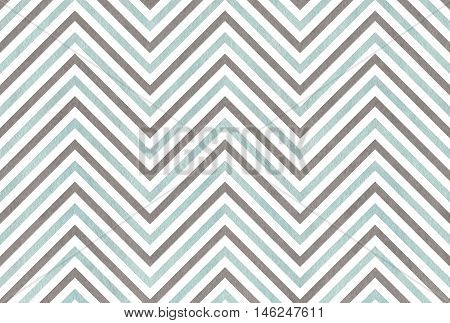 Watercolor Gray And Blue Stripes Background, Chevron.