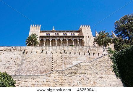 Almudaina Palace And Stone Wall