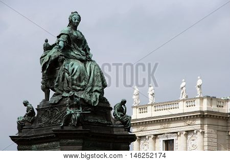 Statue of the Austrian Empress Maria Theresia Vienna