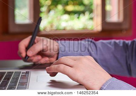 Man Creating Sketch