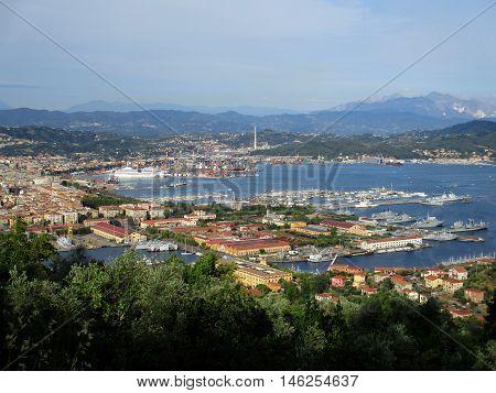 Top View Of The Gulf Of La Spezia B
