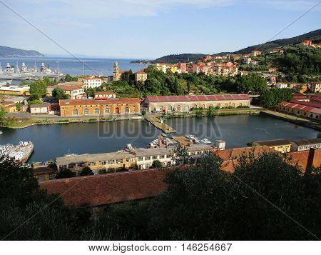 Top View Of The Gulf Of La Spezia D