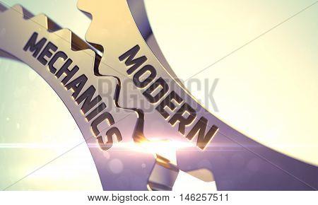 Modern Mechanics on the Mechanism of Golden Metallic Gears. 3D.