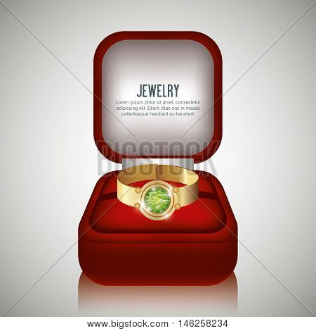 ring in box gift isolated vector illustraion eps 10