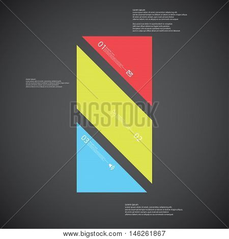 Bar Illustration Template Consists Of Three Color Parts On Dark Background