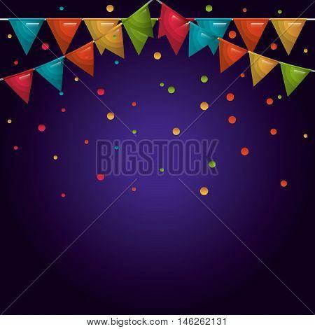 rainbow bunting hanging isolated vector illustration eps 10