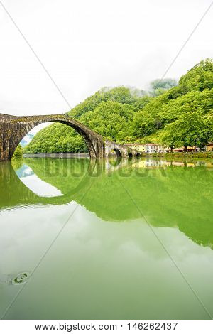 Devil's Bridge in Borgo a Mozzano near Lucca city in Italy