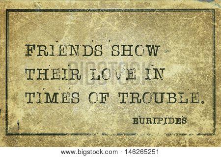 Friends Show Euripides