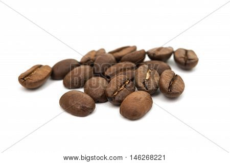coffee beans aromatic  Isolated on white background