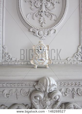 porcelain hours in a drawing room the decorated stucco molding