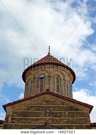 Dome Of Orthodox Monastery Gelati Near Kutaisi - Georgia