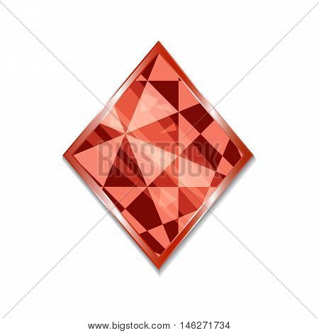 Suit of Diamonds Icon. Vector illustration for graphic projects Parties Business Web. Icon Can be used for Game Web Mobile App Infographics. Game asset.
