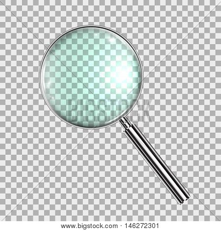 Magnifying Glass With Gradient Mesh Isolated on Transparent Background With Gradient Mesh Vector Illustration eps10
