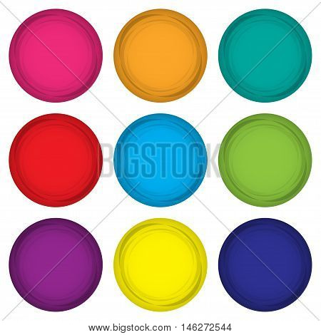 Set of colored magnets in a flat design on a white background. Vector illustration eps10