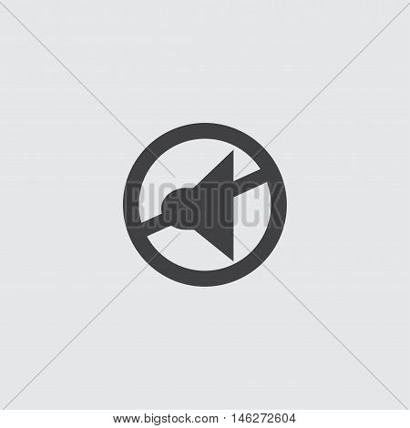 Silent mode icon in a flat design in black color. Vector illustration eps10