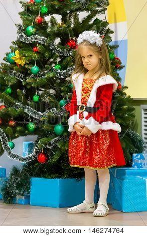 Offended little girl