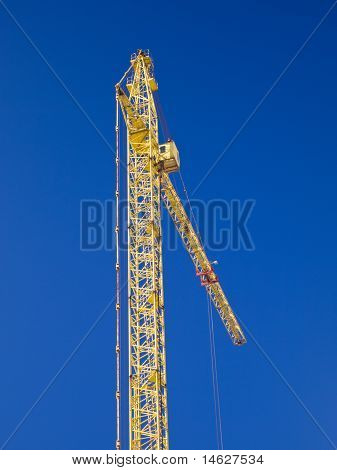 Crane Gibbet On Blue Sky