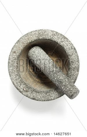 Granit pestle and mortar.