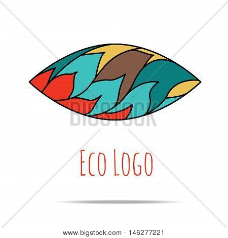 Organic cosmetic mono line logo design templates. Made in vector. Perfect for packaging and wrapping paper