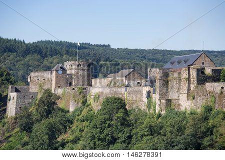 Medieval Castle of Bouillon in Belgian Ardennes near river Semois