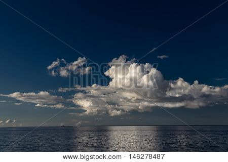 Clouds and blue sky over the Gulf of Finland, Europe