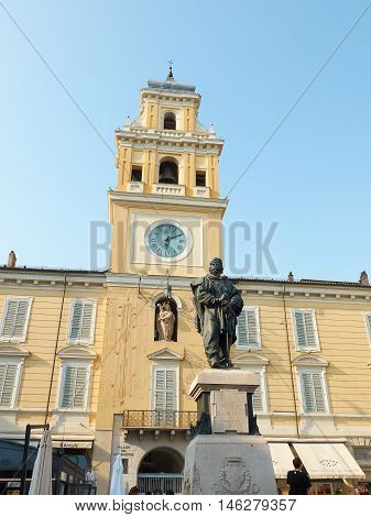 Piazza Giuseppe Garibaldi Of Parma. Emilia-romagna. Italy.