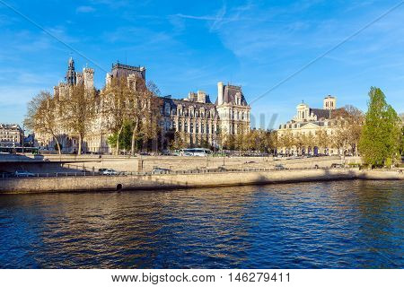 Paris, France - April 6, 2011: The French Walk In Front Of Hotel De Ville