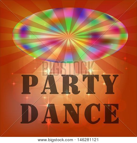 Night club. Disco lignts. illyustration Vector. Disco background poster