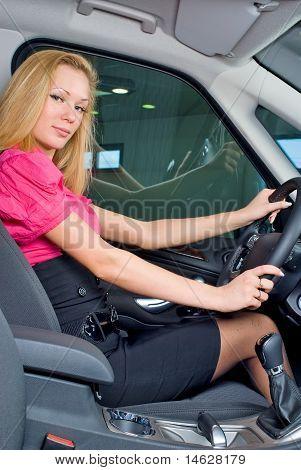 Driving girl