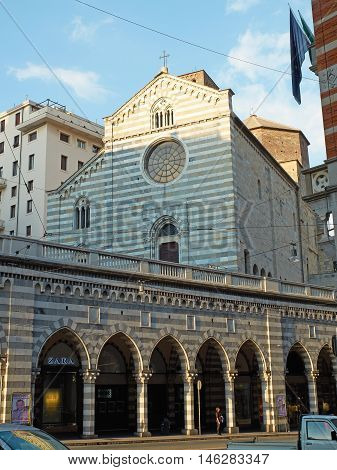 Santo Stefano Church In Genova. Liguria, Italy.