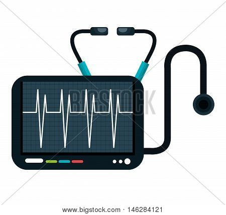 cardiology stethoscope medical service isolated vector illustration eps 10