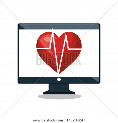 cardiology digital medical service isolated vector illustration eps 10