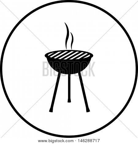 open charcoal grill symbol