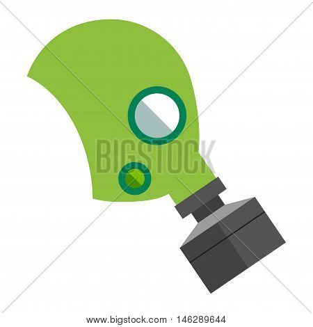 Respiratory protection mask vector illustration. Respiratory protection mask isolated on white background. Industry safety human organs