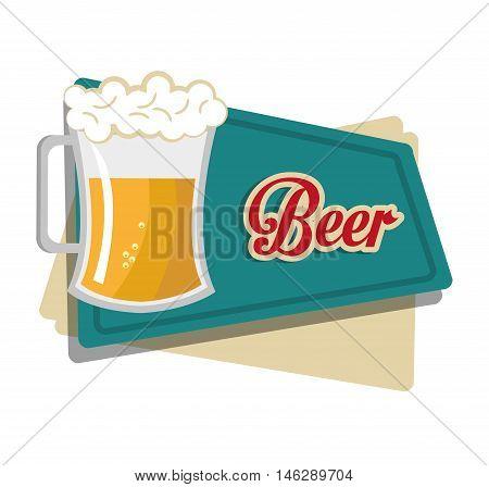 beer beverage drink isolated vector illustration eps 10