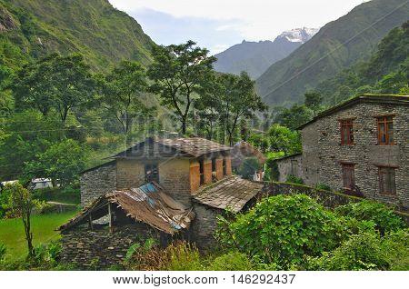 Kali Gandaki Valley Near Tatopani