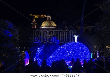 Christmas Lights Of Salerno, Pinocchio And The Whale