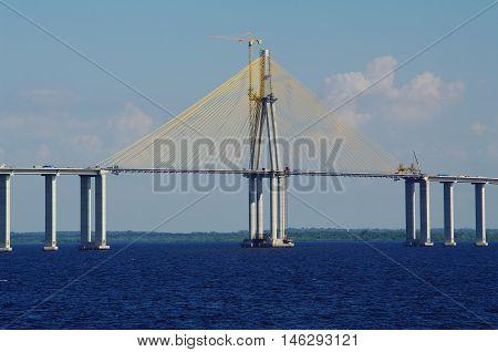 The Rio Negro Bridge Under Construction
