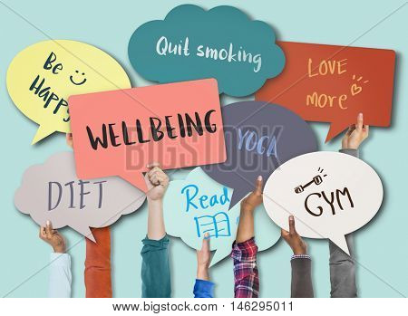 Wellbeing Positivity Mindset Thinking Wellness Concept