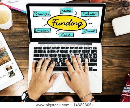 Funding Grant Donation Diagram Concept