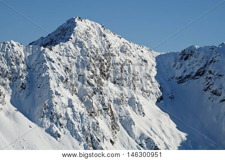 Mt Lancelot Viewed From Avalanche Peak.  Arthurs Pass, Southern Alps, Canterbury, New Zealand
