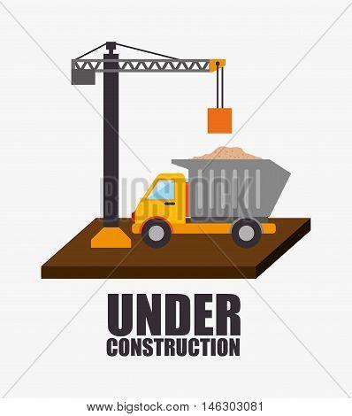 web under construction design vector illustration eps 10