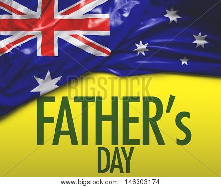Father's Day and Australia national flag