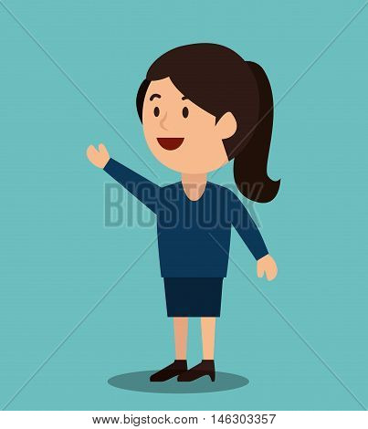 woman cartoon money earnings design isolated vector illustration eps 10